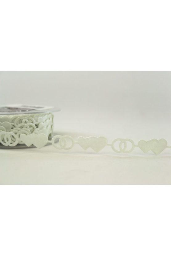 Zierlitze Hochzeit, creme, 15 mm breit - hochzeit, anlasse