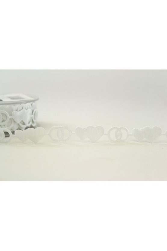 Zierlitze Hochzeit, weiß, 15 mm breit - hochzeit, anlasse