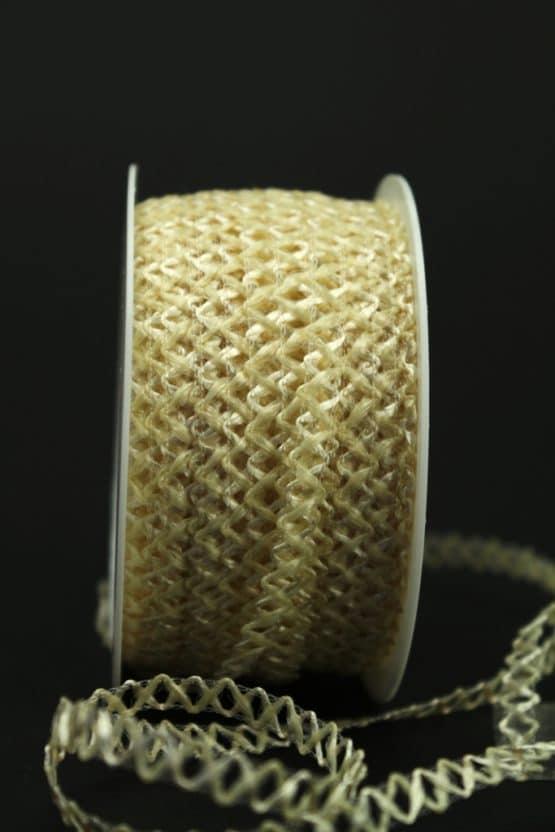Zierlitze creme, 6 mm breit - hochzeit, dekoband, anlasse
