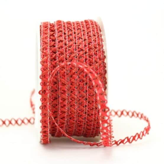 Zierlitze rot, 6 mm breit - dekoband