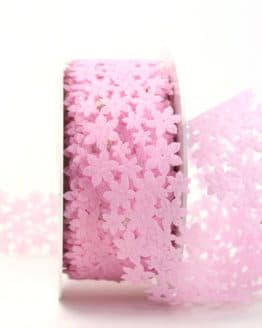 Dekogirlande rosa, aus Vlies ausgestanzt - geschenkband, geschenkband-einfarbig, dekogirlande, dekoband