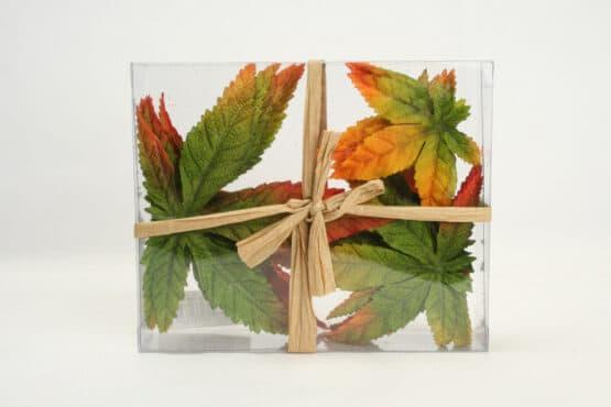 Künstliche Ahornblätter, grün-orange - accessoires