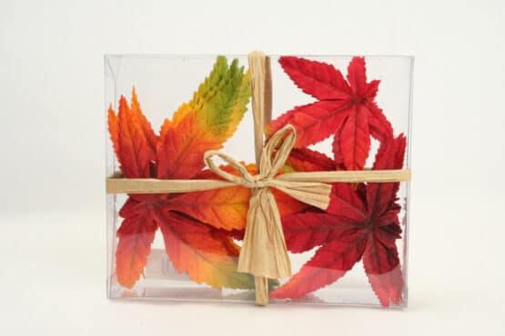 Künstliche Ahornblätter, rot-orange - accessoires