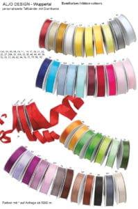 personalisierte Taftbänder mit Drahtkante - Farben