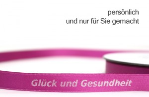 personalisiertes Geschenkband - nur für Sie gemacht