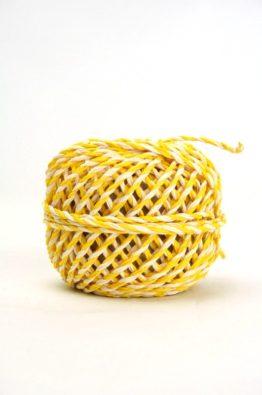 zweifarbige Kordel 2mm gelb-weiß (84017-02-010)