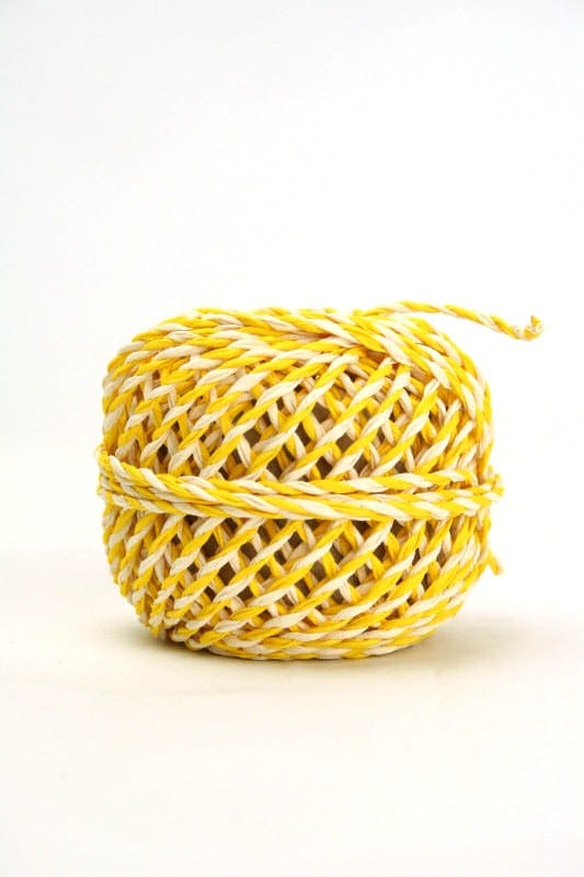 Zweifarbige Kordel gelb-weiß, 2 mm - kordeln